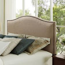 Macys Full Headboards by Amazon Com Modern Arch Upholstered Padded Beige Tan Taupe Linen