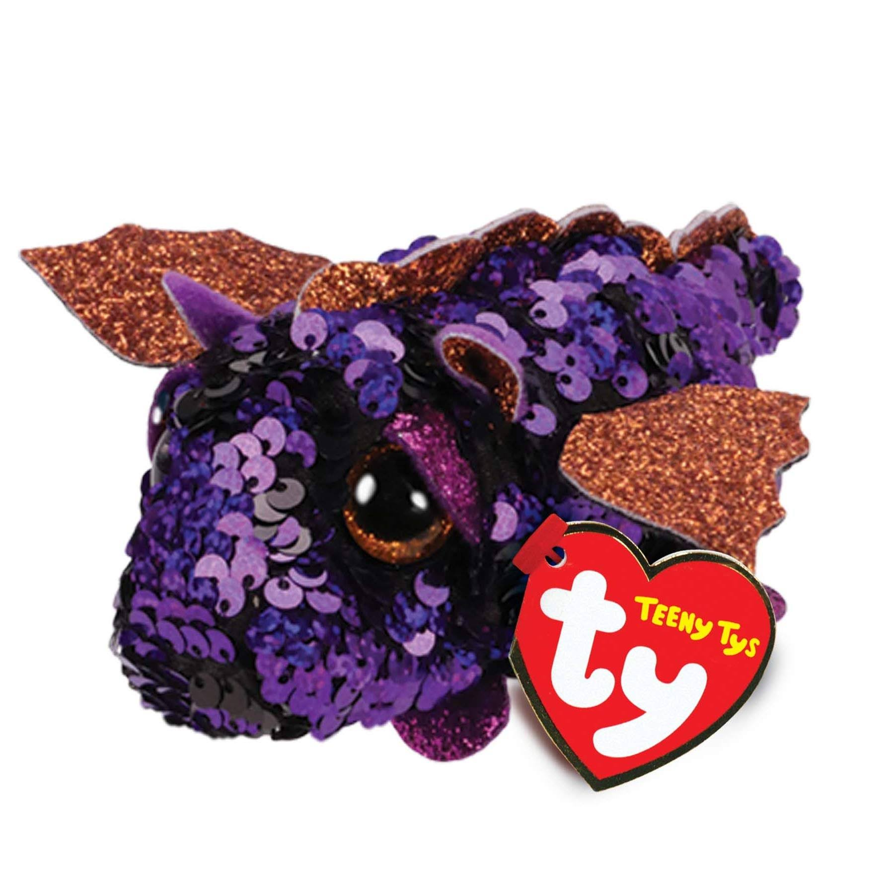 Ty Beanie Boos Teeny Tys Stackable Sequin Plush Ember The Dragon