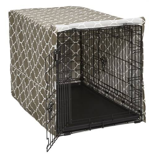 Midwest 36 inch QuietTime Defender Covella Crate Cover-Brown, Brown