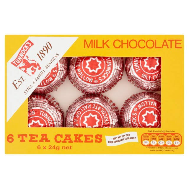 Tunnock's Milk Chocolate Tea Cakes - 24g, 6ct