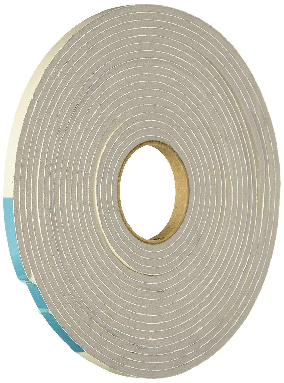 "MD High Density Foam Tape with Adhesive Closed Cell - Gray, 1/4"" X 1/8"" X 17'"