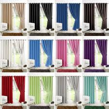 Ebay Curtains 108 Drop by Ring Top Fully Lined Pair Eyelet Ready Made Curtains Luxury