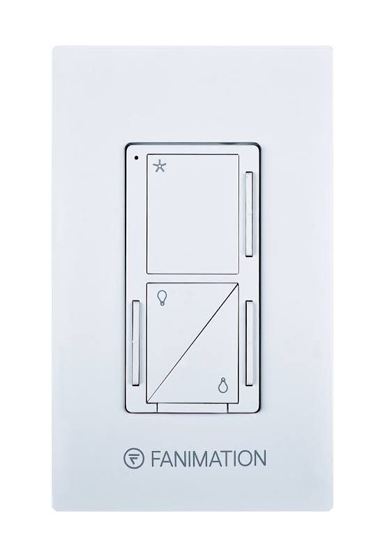 Fanimation WC3 3 Speed Fan and Up / Down Light Wall Control White Ceiling Fan Accessories Controls Wall Controls