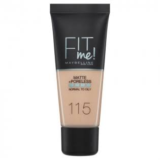 Maybelline Fit Me Matte and Poreless Foundation - 115 Ivory, 30ml