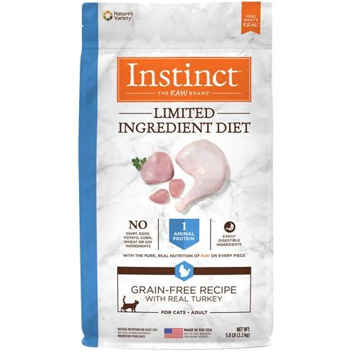 Instinct by Nature's Variety Limited Ingredient Diet Grain-Free Recipe with Real Turkey Dry Cat Food, 5-lb Bag