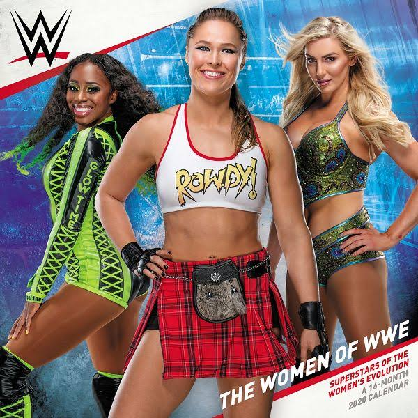 WWE Women 2020 Wall Calendar