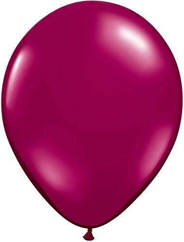 Qualatex 6226 11 in. Burgundy Latex Balloon - 25 Count