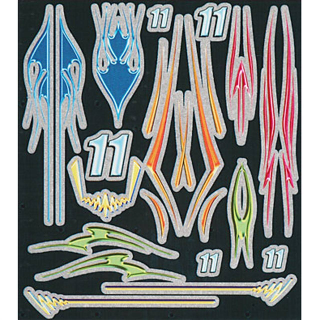 Pinecar Derby Racers Dry Transfer Decals - Neon Stripes