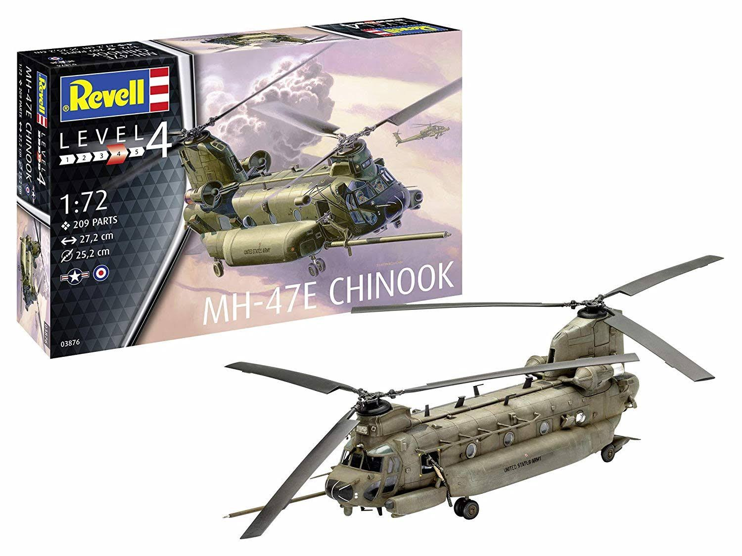 Revell Boeing MH-47E Chinook Helicopter Model Kit - Scale 1:72