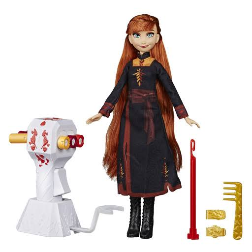 Disney Frozen 2 Sister Styles Anna Fashion Doll [Extra-Long Red Hair, Braiding Tool & Hair Clips]