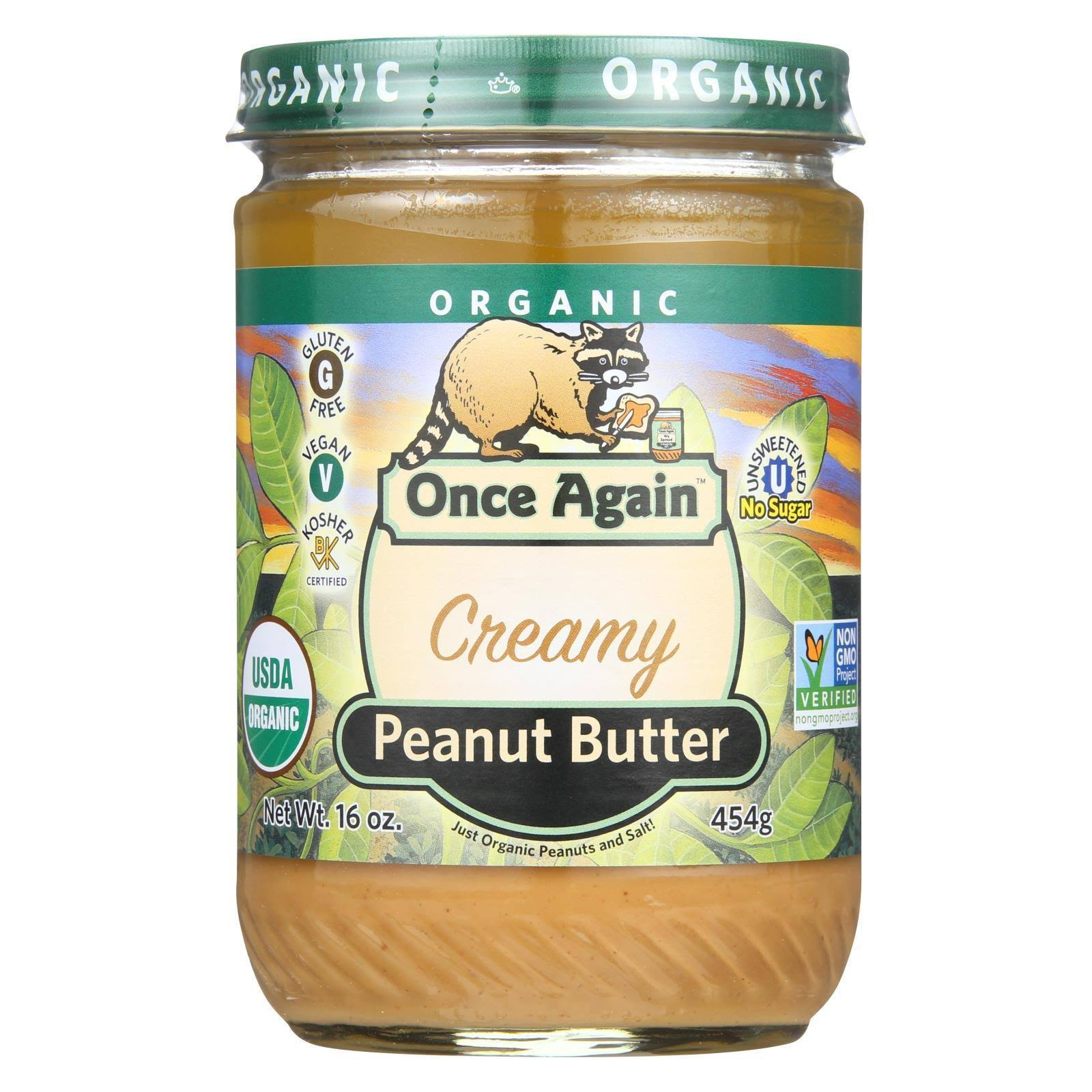 Once Again Peanut Butter, Creamy - 16 oz jar