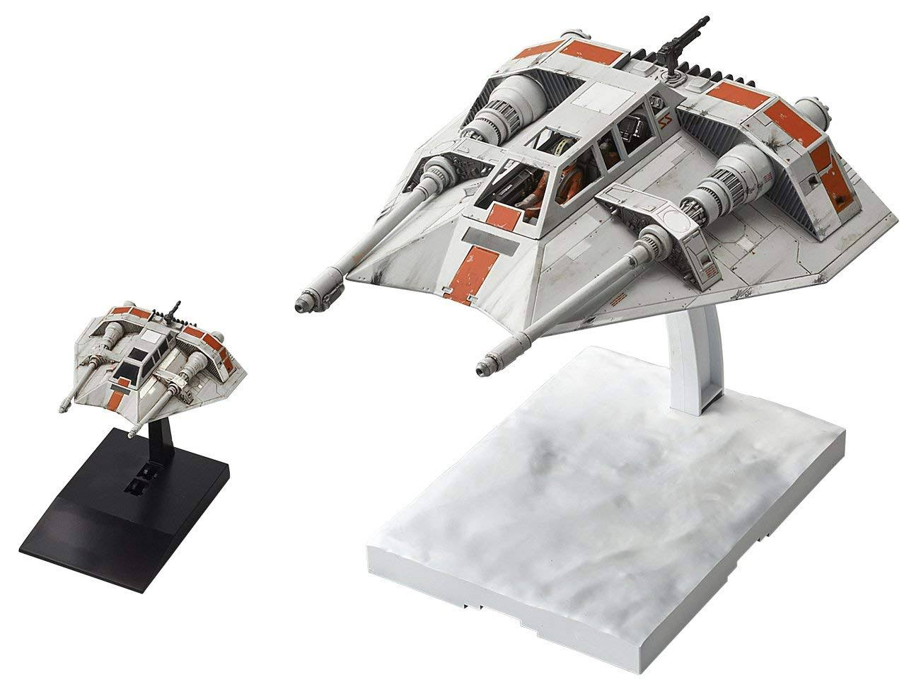 Bandai Star Wars Snowspeeder 1:48 & 1:144 Scale Plastic Model Kit