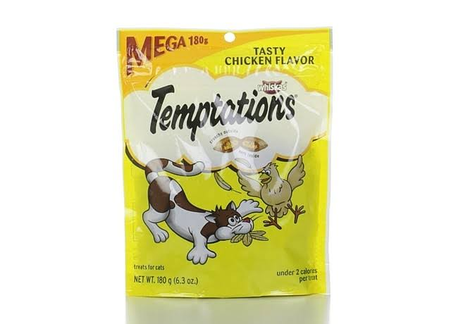 Whiskas Temptations Treats for Cats - Tasty Chicken Flavor, 6.3oz