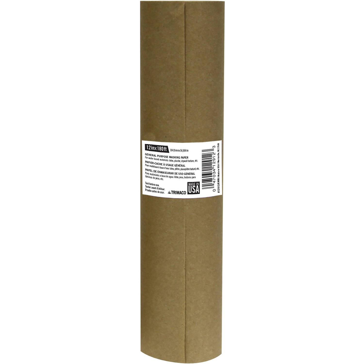 "Trimaco 12912 B12 General Purpose Masking Paper - 12"" x 180'"