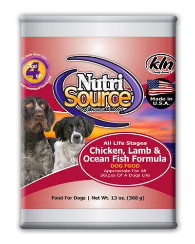 NutriSource Chicken Lamb and Ocean Fish Formula Canned Dog Food - 13oz