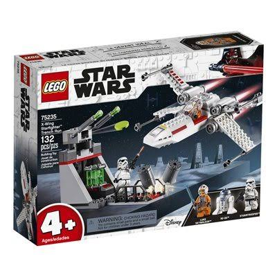 Lego Star Wars X Wing Starfighter Trench Run Building Toys Set - 132pcs Set