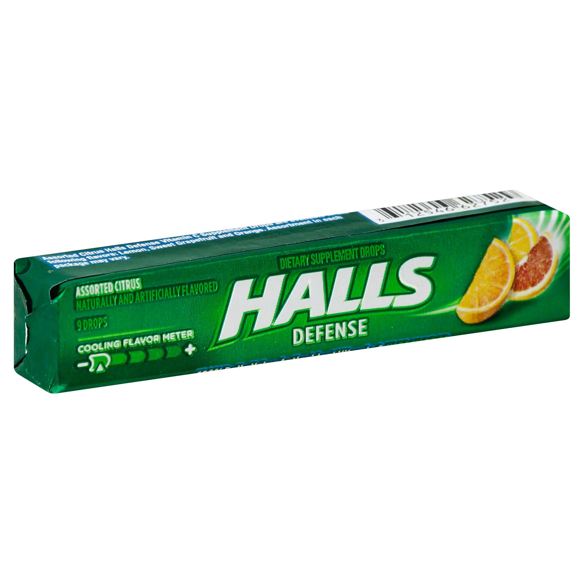 Halls Defence Vitamin C Assorted Citrus - 9-Drop Count