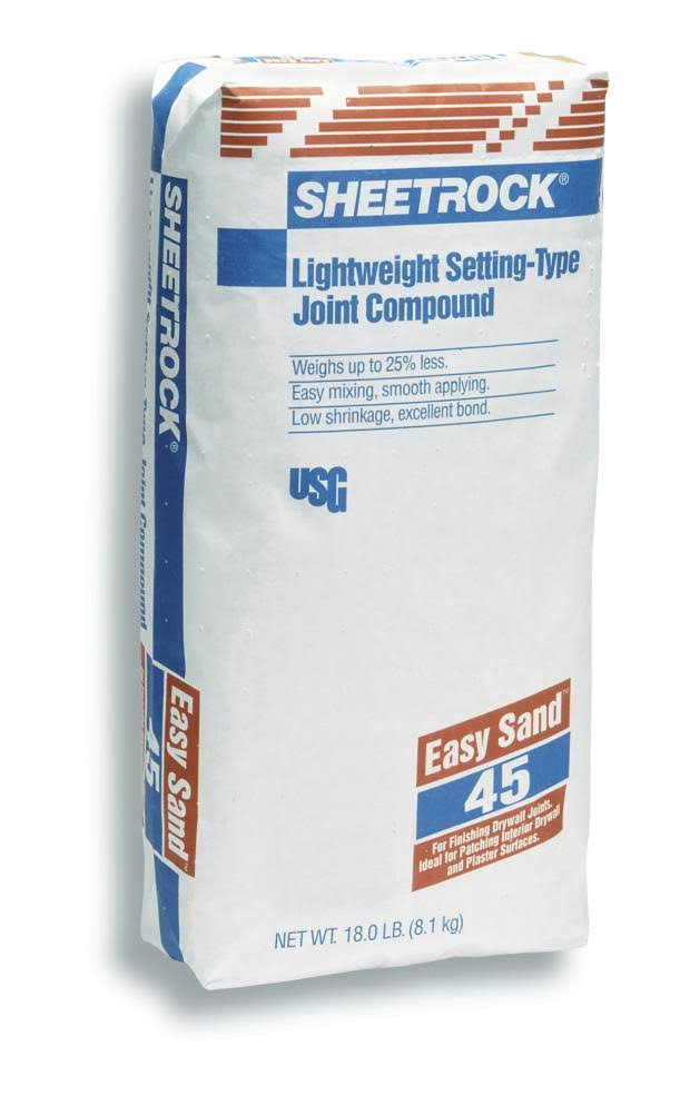 Sheetrock Easy Sand 45 Lightweight Setting-Type Joint Compound - 18lbs