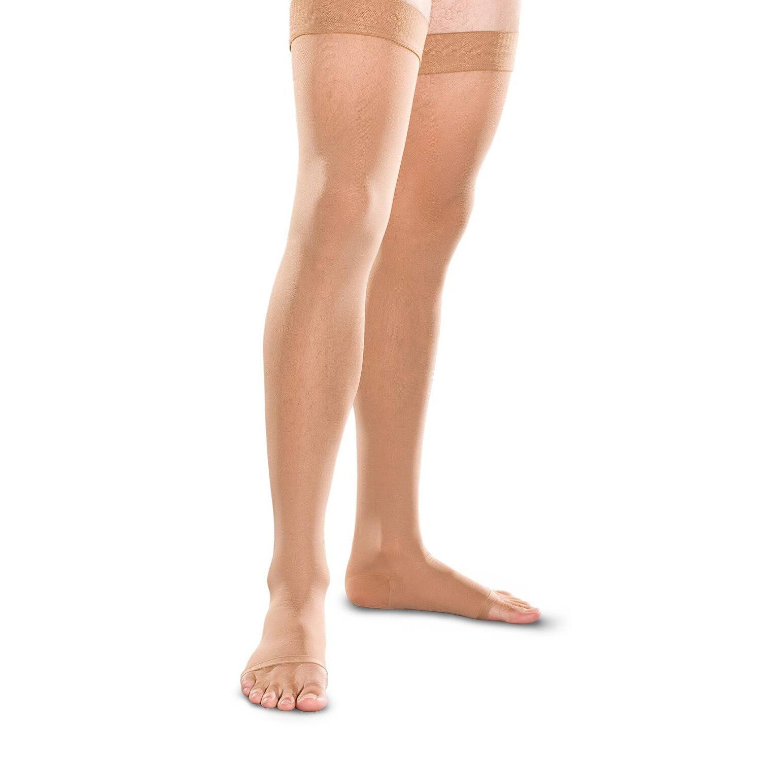 Therafirm 20-30 mmHg Thigh High Open Toe - Sand