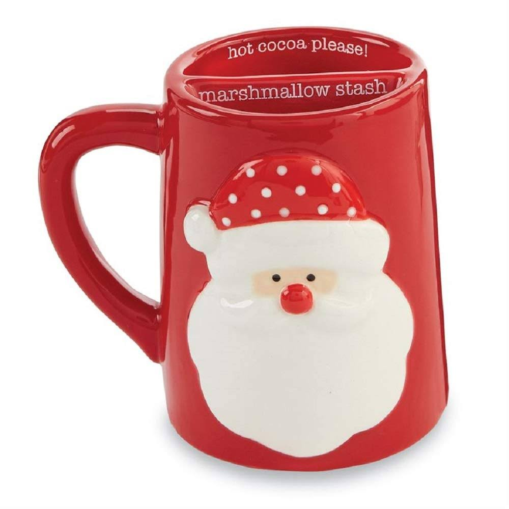 Mud Pie Marshmallow Stash Mugs, Santa