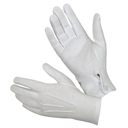 Hatch White Cotton Parade Glove Small