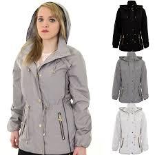 ladies hooded long sleeve smart waterproof lightweight rain coat