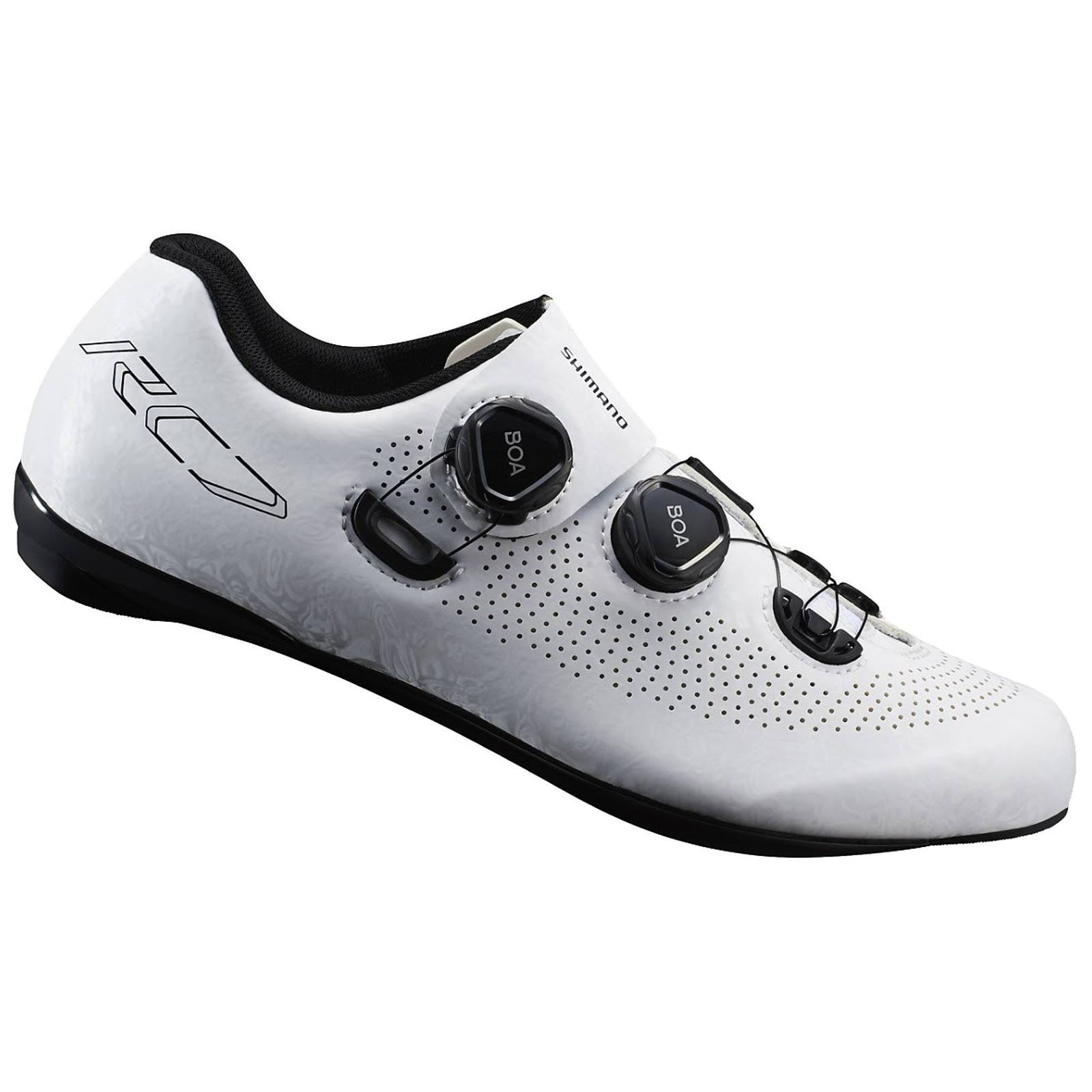 Shimano RC7 Carbon Cycling Shoes - White, EU43