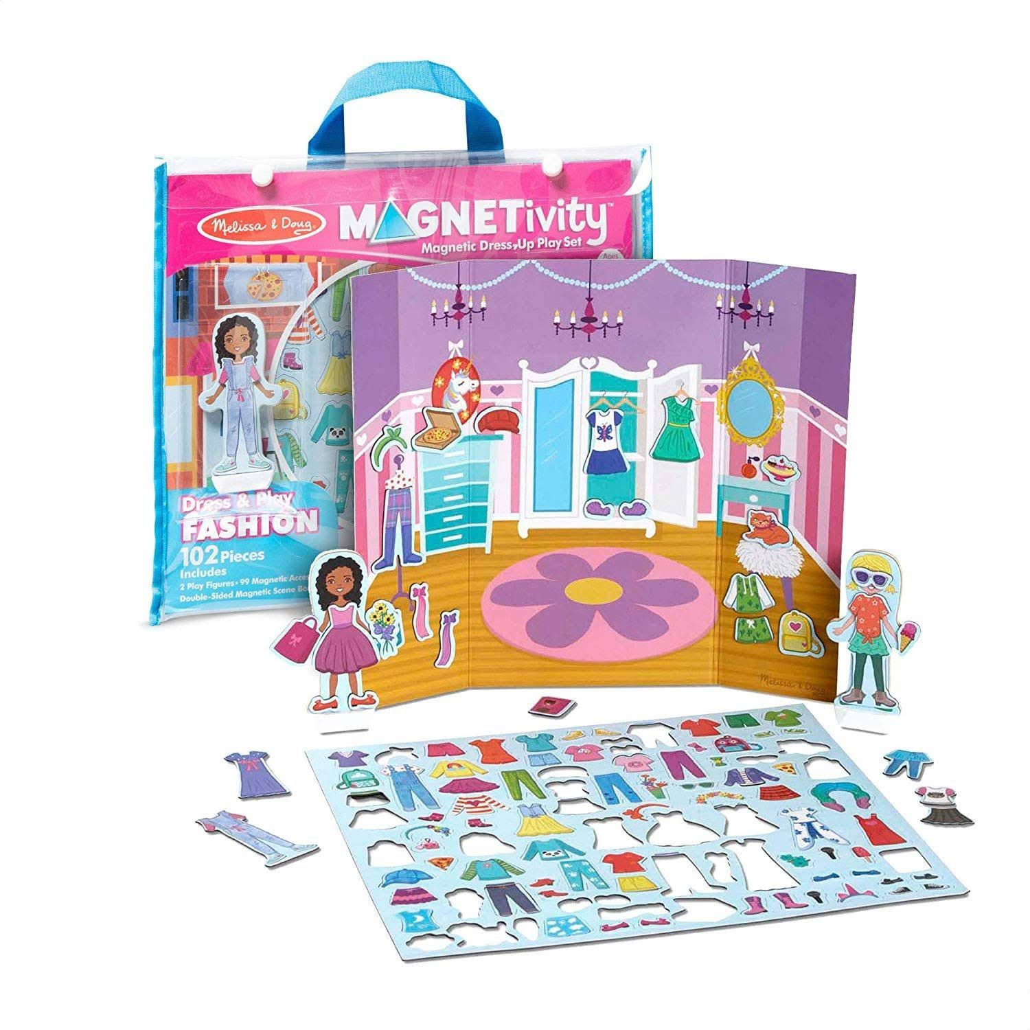 Melissa & Doug Magnetivity Dress & Play Fashion Magnetic Dress-Up Play Set