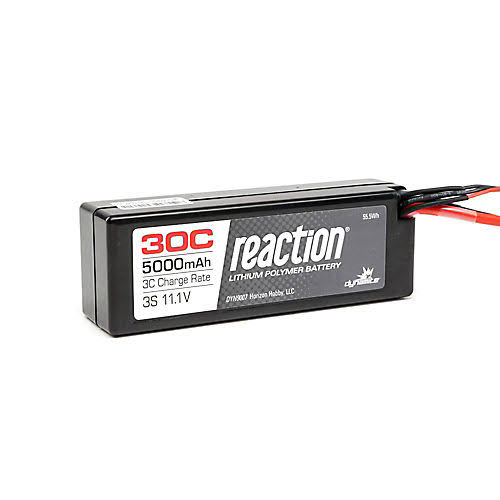 Dynamite Reaction 30c 3s Lipo Hardcase Battery - 11.1V, 5000mah