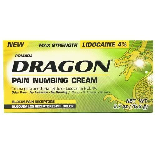Dragon Pain Numbing Cream, Max Strength - 2.7 oz