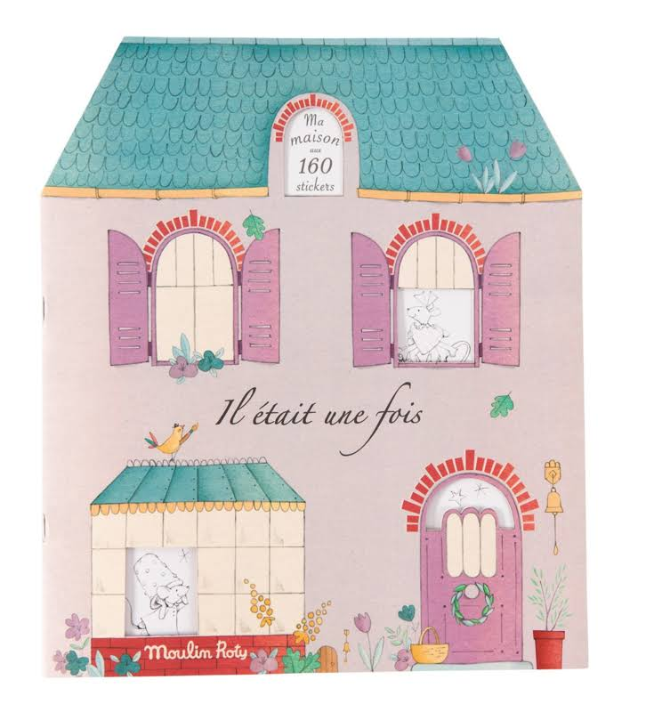 Moulin Roty Once Upon A Time Sticker and Coloring Book