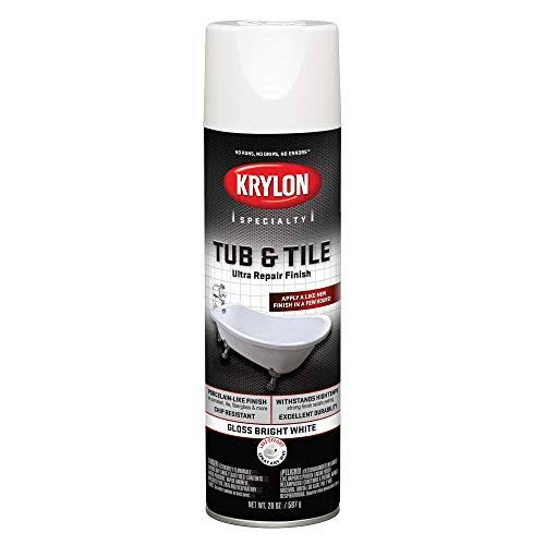 Krylon K04502007 Tub & Tile Ultra Repair Finish Spray Paint Aerosol Bright White