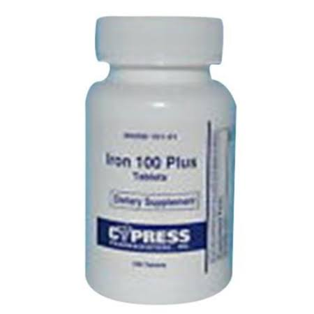 Cypress Iron 100 Plus Tablets, 100ct 360258101011S2557