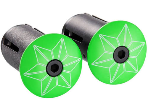 Supacaz SCBP007 Bicycle Star Bar Plugs - Neon Green