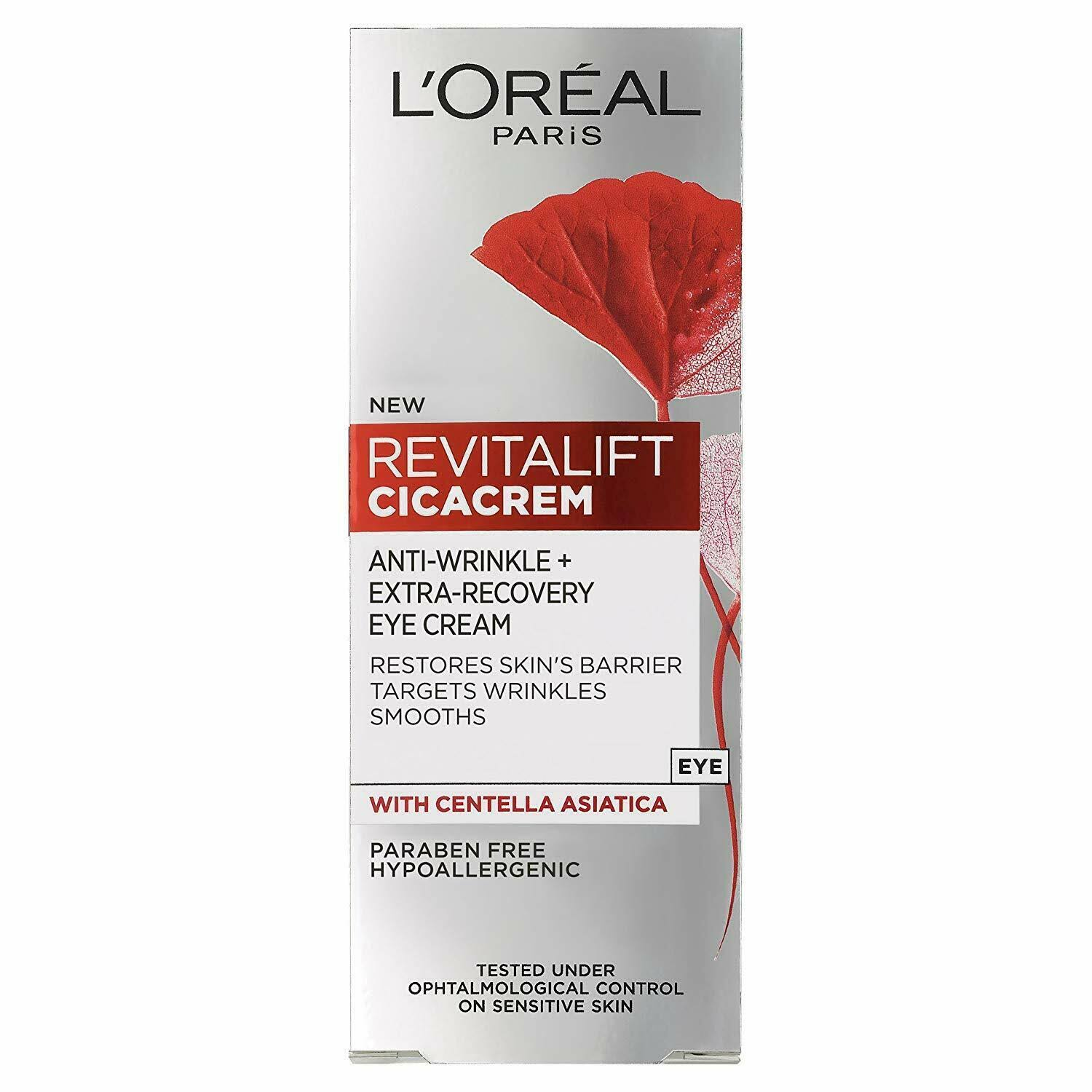 L'Oreal Paris Revitalift Cica Anti Wrinkle Recovery Eye Cream - 15ml