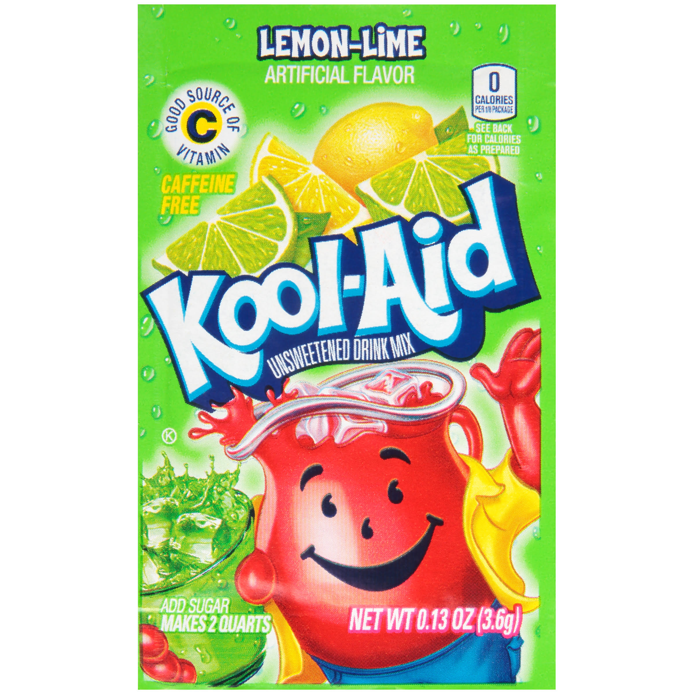 Kool-Aid Unsweetened Drink Mix - Lemon-Lime, 3.6g