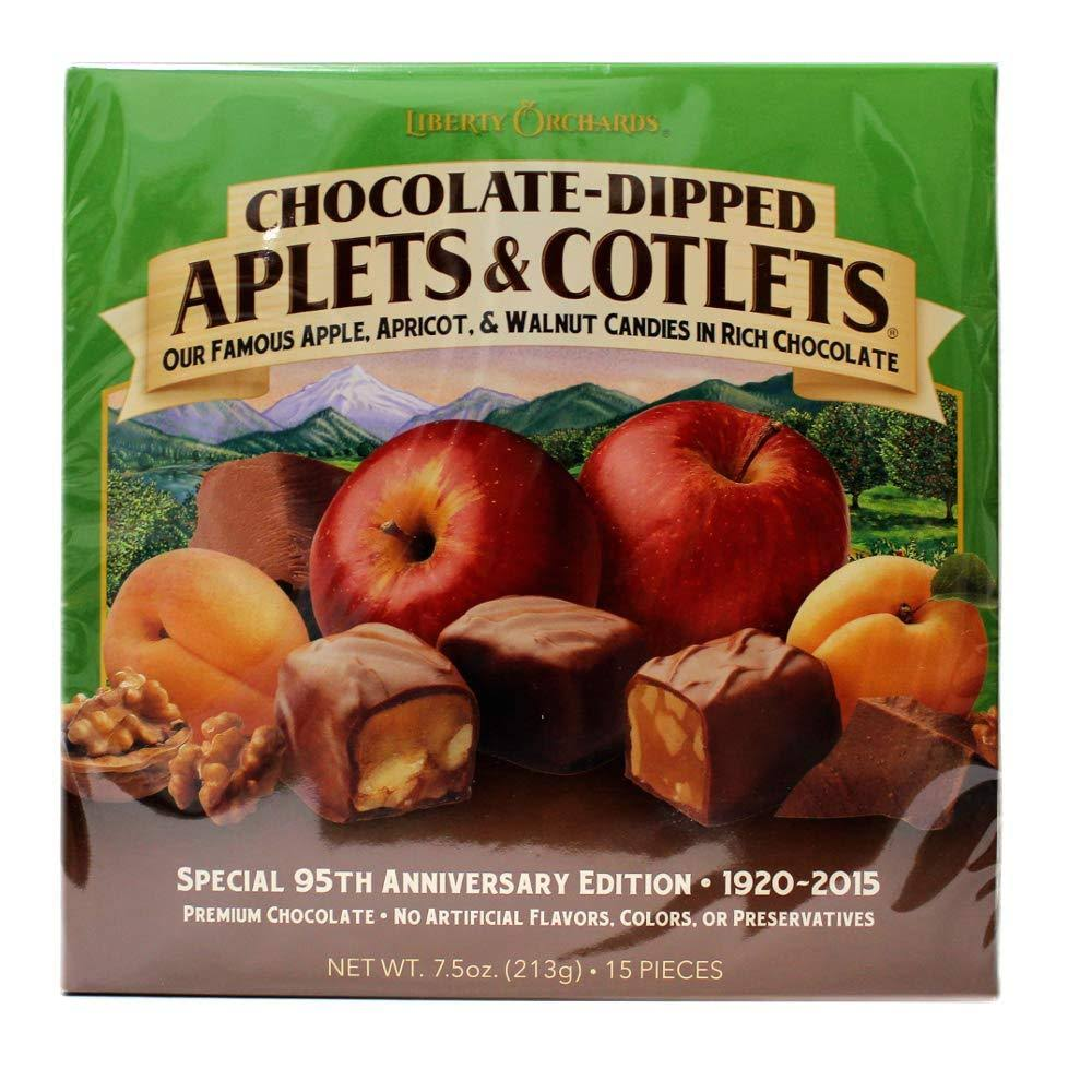 Liberty Orchards Chocolate - Dipped Aplets and Cotlets Special 95th Anniversary Edition 1920-2015