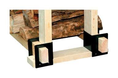 Panacea Log Rack Bracket, Black - 4 count