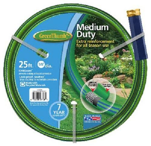 Green Thumb Garden Hose - Medium Duty, Green