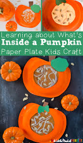Spookley The Square Pumpkin Preschool Activities by Learning About What U0027s Inside A Pumpkin Paper Plate Kids Craft