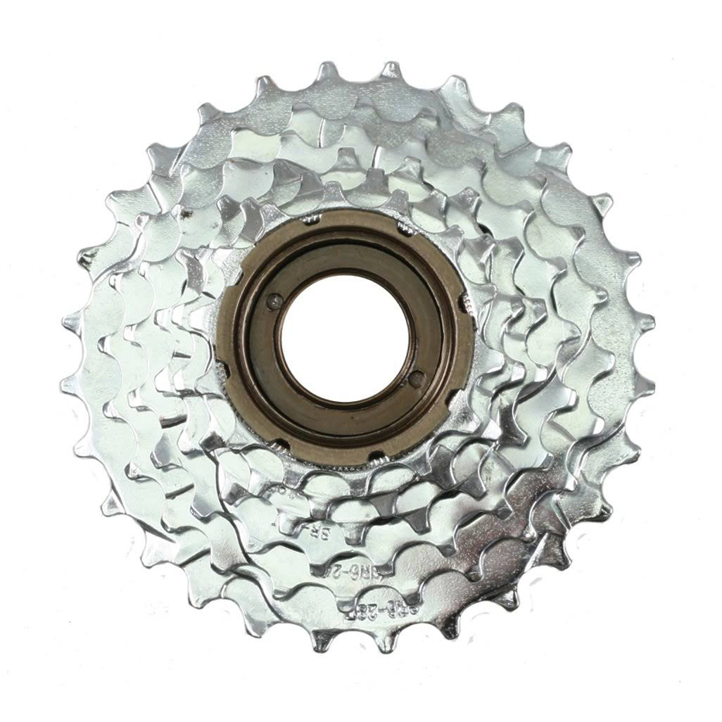 Sunlite Multi Freewheel - Index Silver, 6 Speed, 14-28T