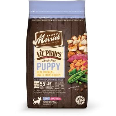Merrick Lil'Plates Grain Free Puppy Real Chicken and Sweet Potato Dry Puppy Food - 12lb