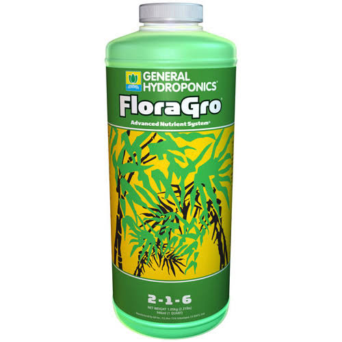 General Hydroponics FloraGro Liquid Fertilizer - 1qt