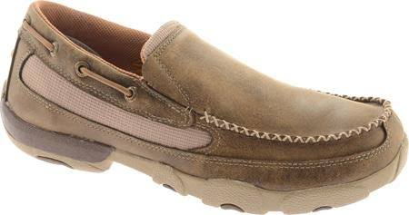 Twisted X Men's Driving Moccasins Slip On Shoes - Bomber Brown, 11 US