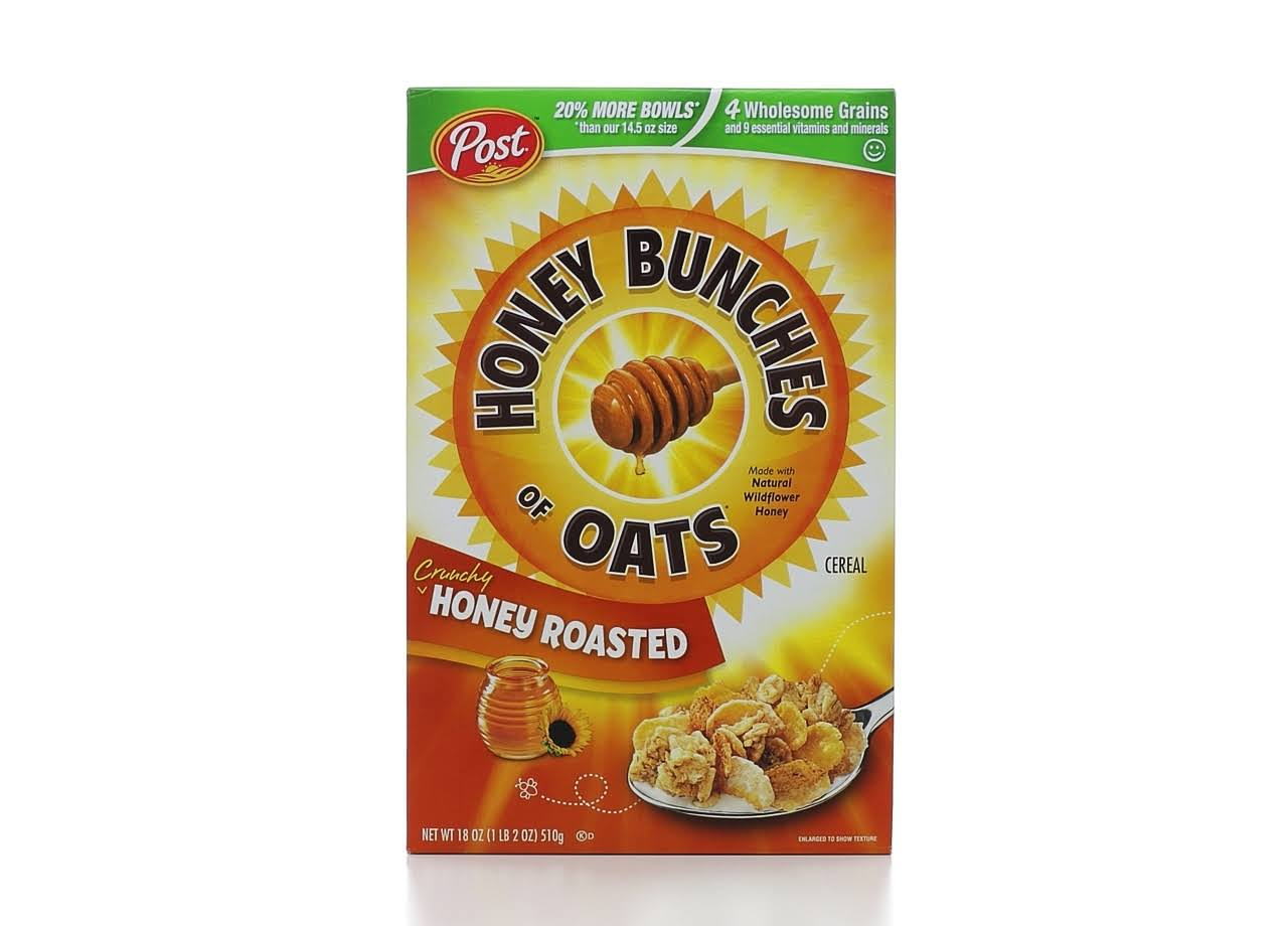 Post Honey Bunches of Oats Crunchy Cereal - 18oz, Honey Roasted
