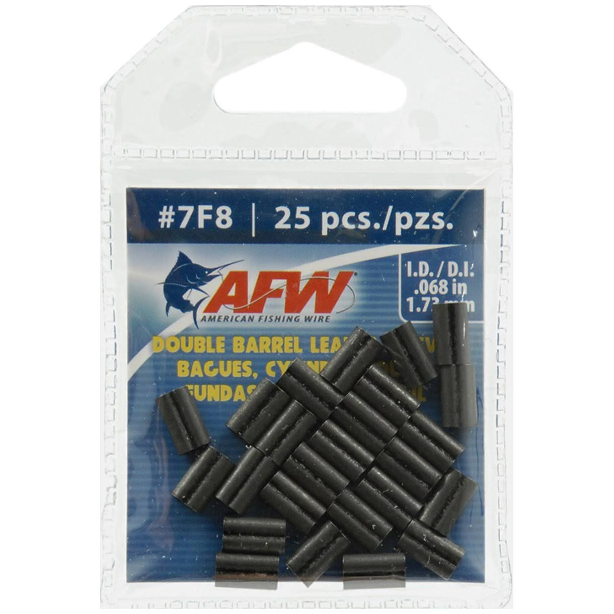 American Fishing Wire Double Barrel Sleeve - #7, Black, 25pcs