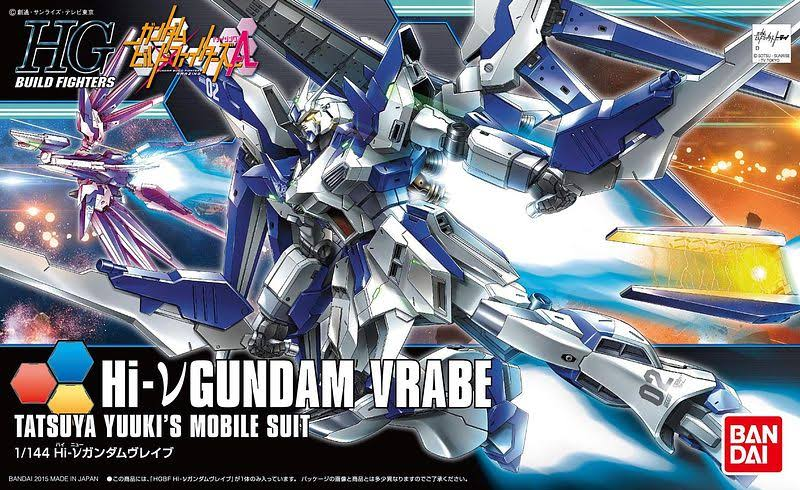 Bandai Gundam Build Fighters HGBF #029 Hi-Nu Gundam Vrabe 1/144 Model Kit