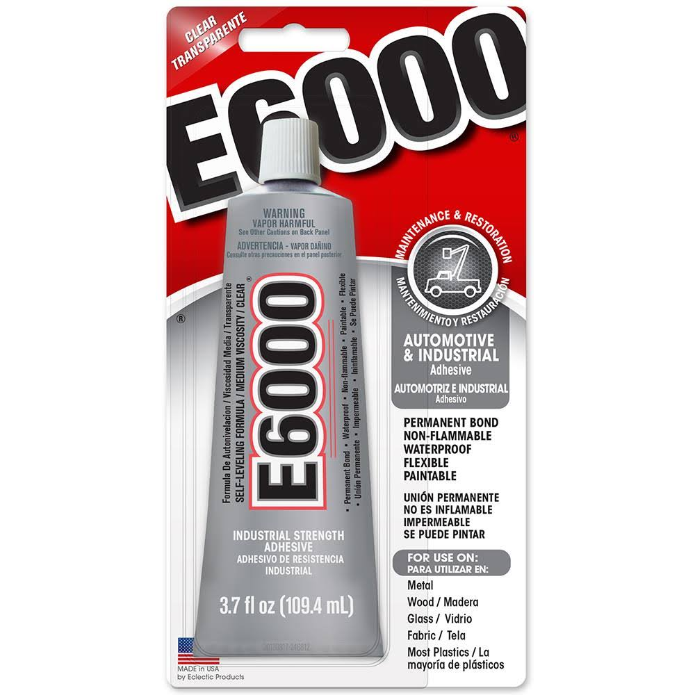 Eclectic 230022 Clear E6000 Automotive & Industrial Adhesive - 110ml