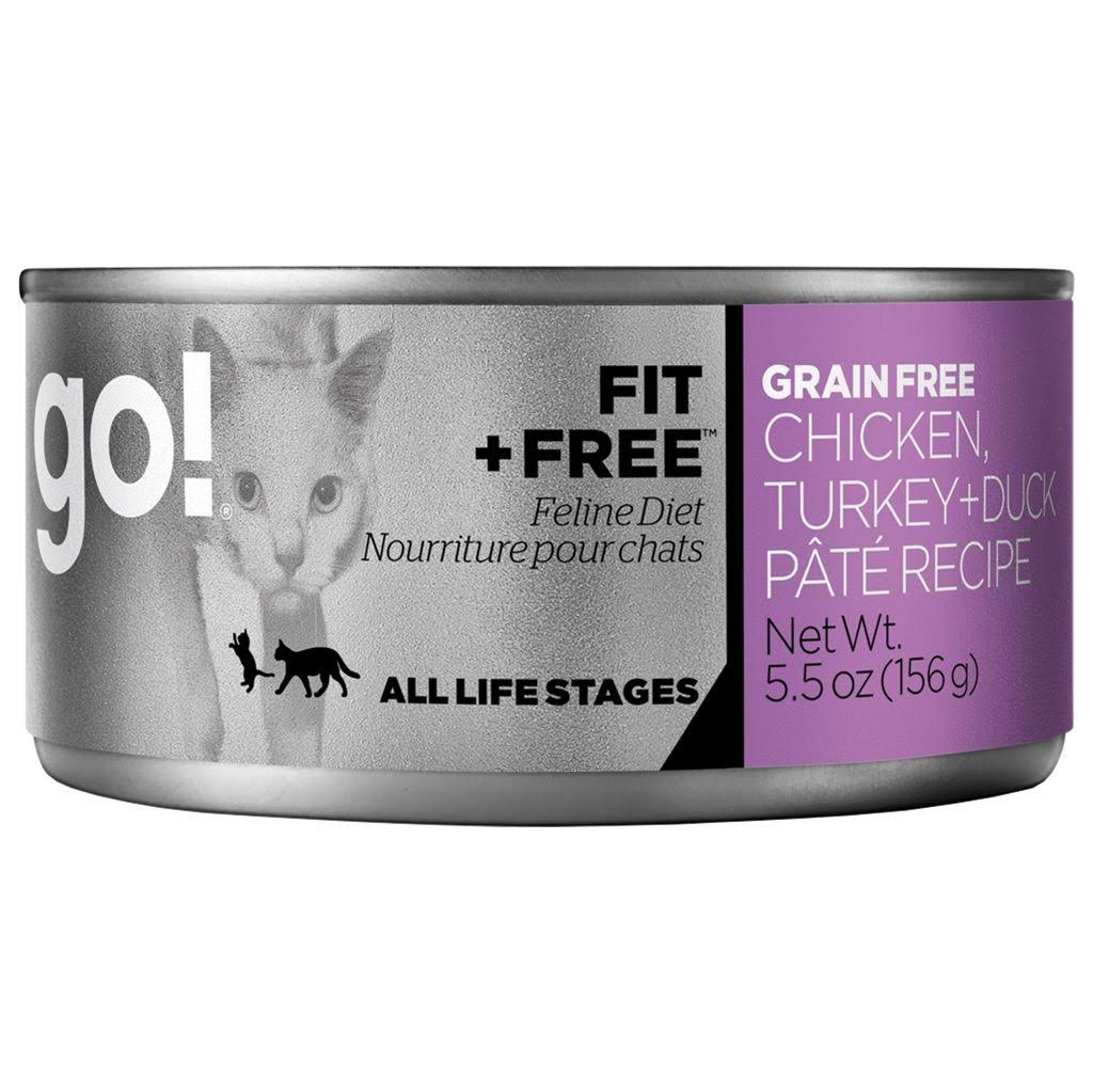 Petcurean Go Fit + Free Cat Food, Chicken/Turkey & Duck Pate - 5.5 oz can