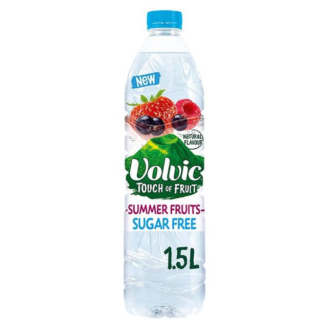 Volvic Touch of Fruit Sugar Free Natural Flavoured Water - Summer Fruits, 1.5L